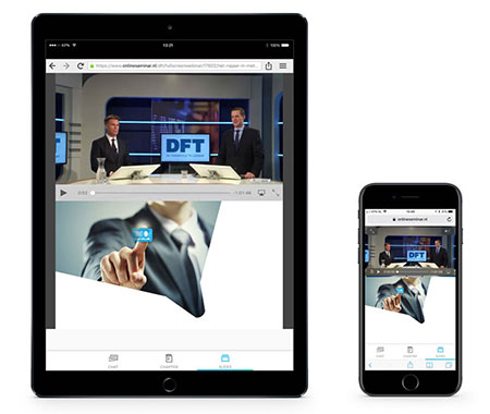 DFT webinars on iPad and iPhone