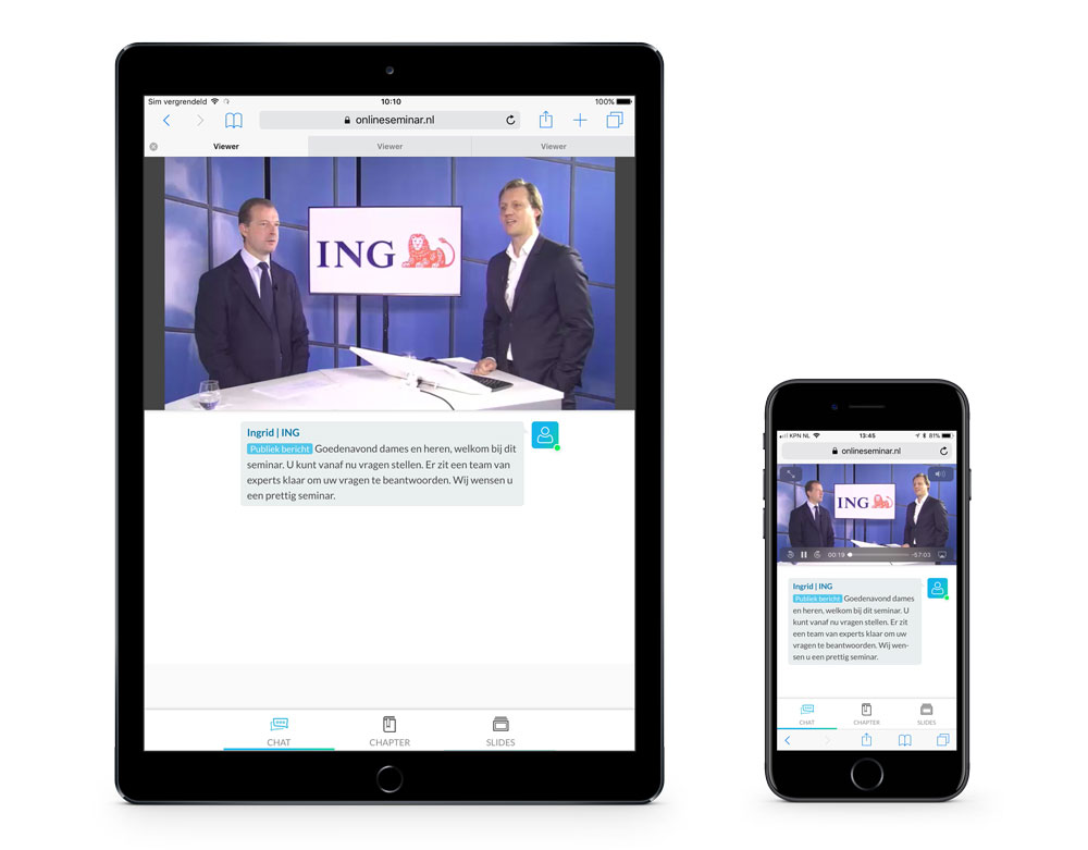 ING webinar op iPad en iPhone