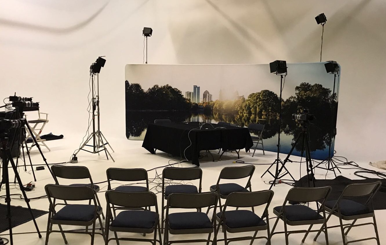 Mobile studio on location in Atlanta USA